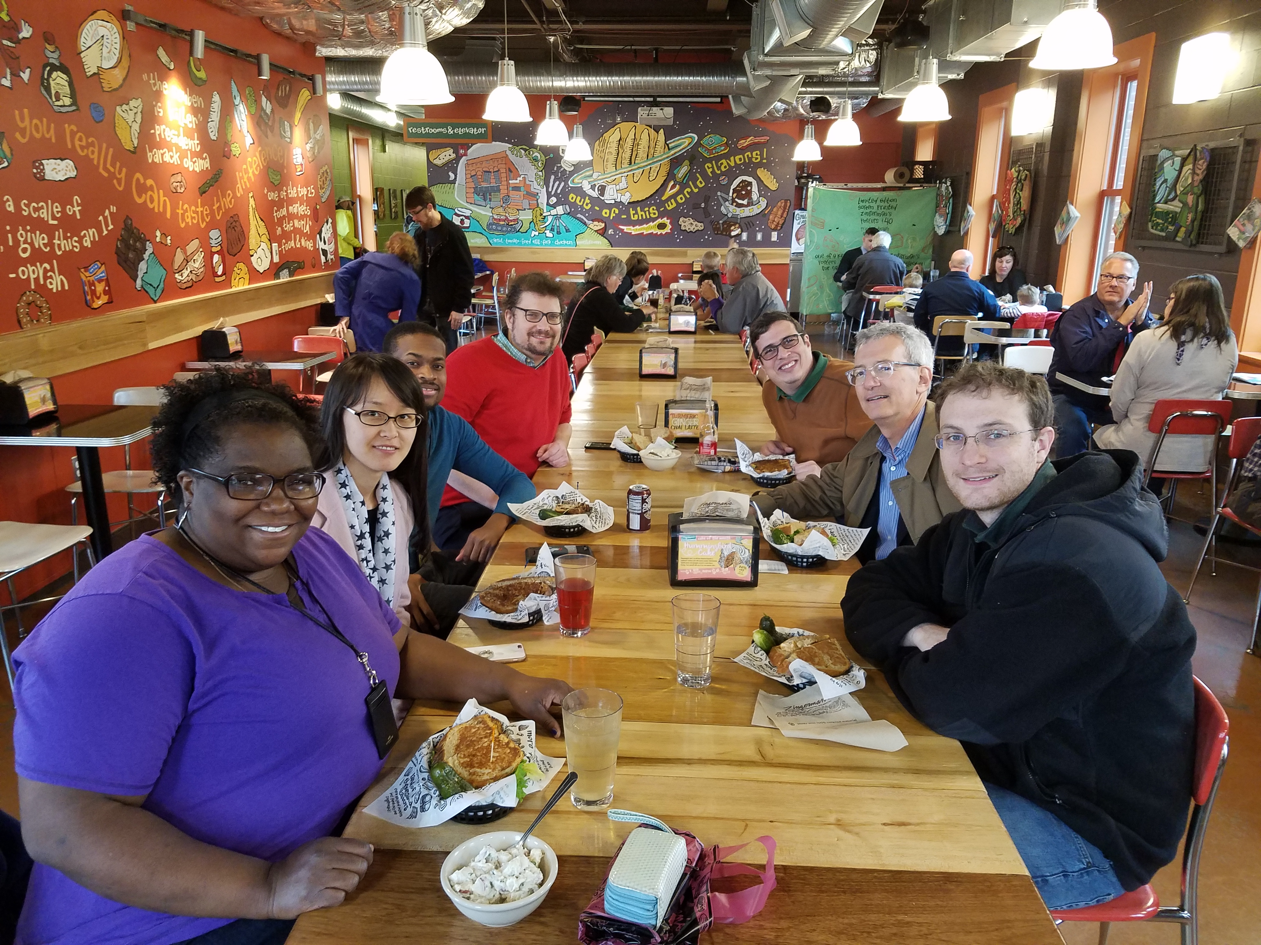 Cone Lab lunch at Zingerman's
