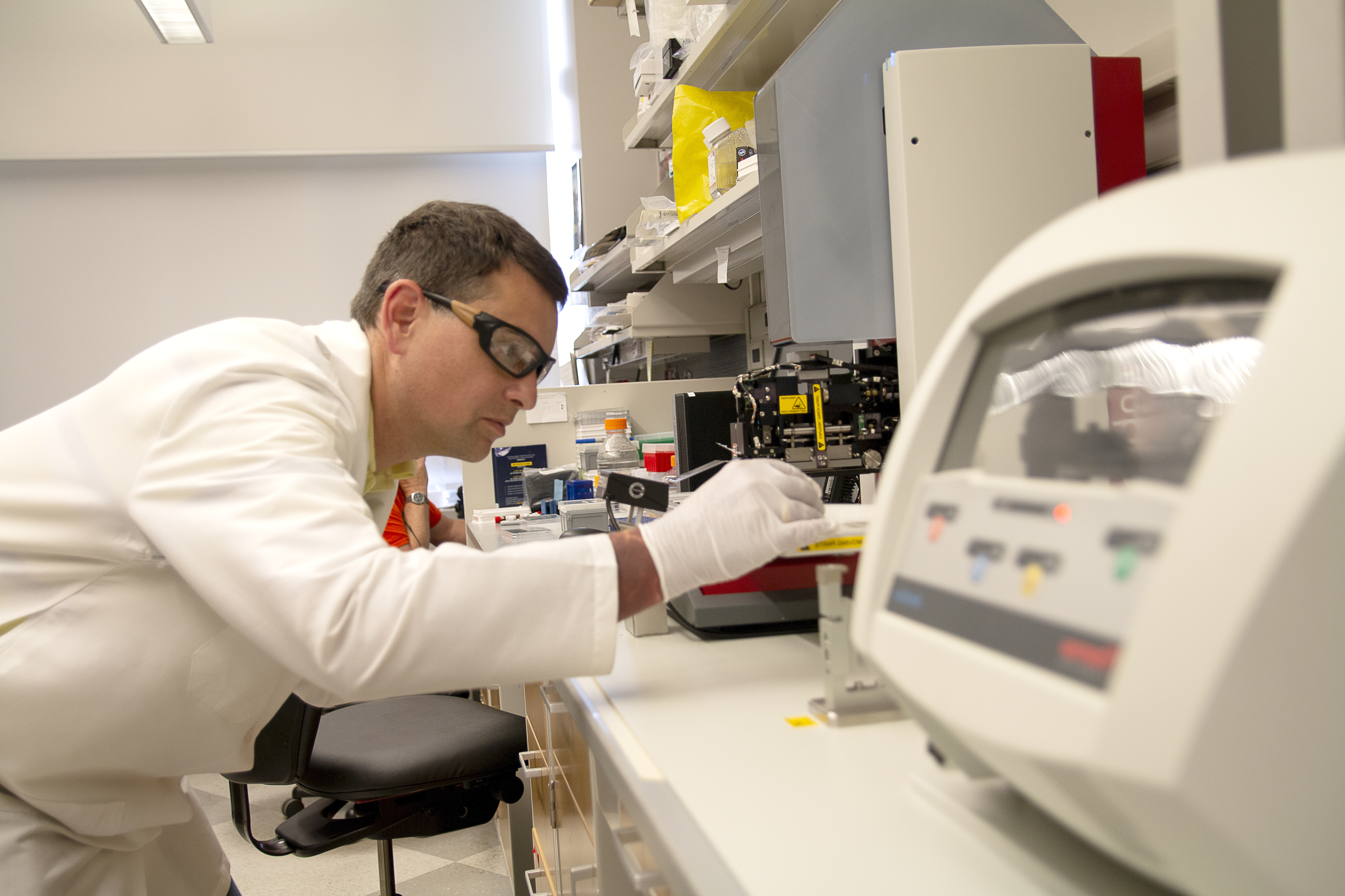 Aaron Robida, Ph.D., in the Center for Chemical Genomics