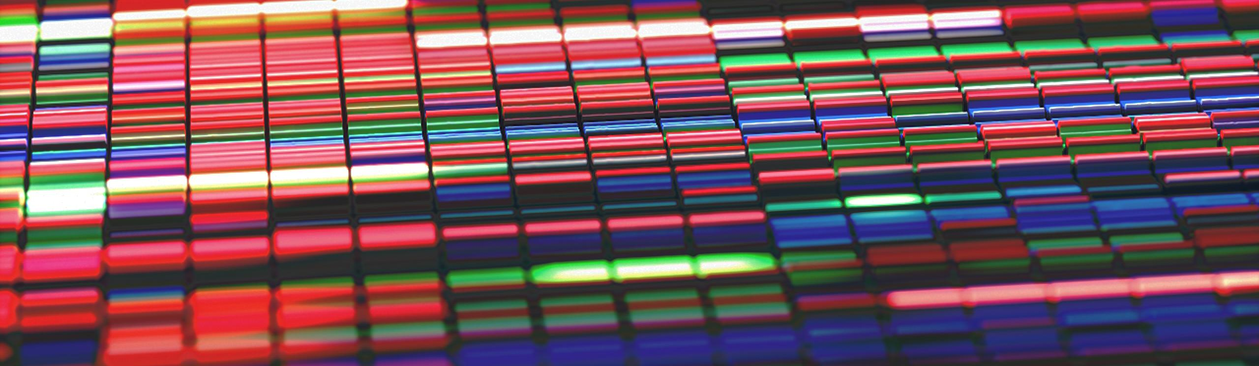 colorful sanger sequencing (Credit: Thinkstock / ktsimage)