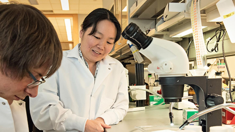 Yukiko Yamashita and Casey Boucher