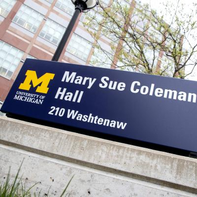 Mary Sue Coleman Hall building sign