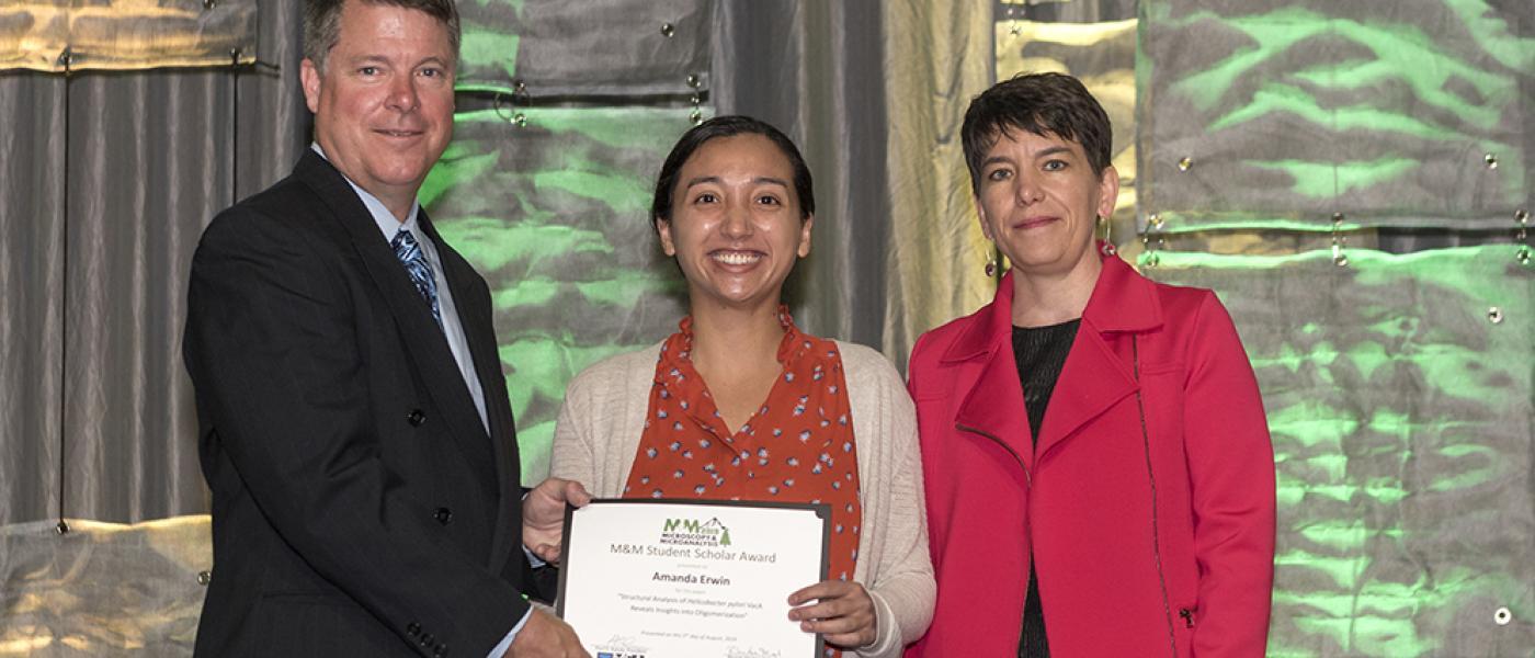 Microscopy & Microanalysis Student Scholar Award Recipient, Amanda Erwin